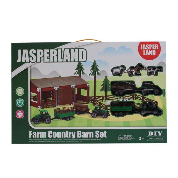 Jasperland farm készlet 2 traktorral, karámmal és állatokkal