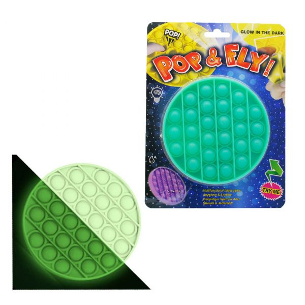 Pop it sötétben világító anti stressz társasjáték